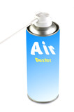 Air duster on the white background poster