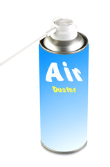 Air duster on the white background