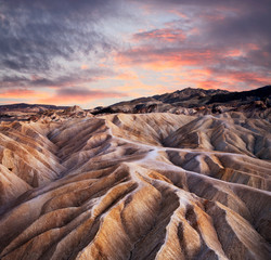 Zabriskie Point Ridges, Death Valley California