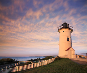 The Nobska Point Light, Woods Hole, Cape Cod Massachusetts