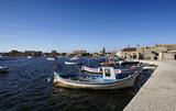 Italy, Sicily, Marzamemi, fishing boats in the port