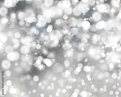 Silver Christmas lights Background