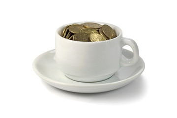 A cup of money