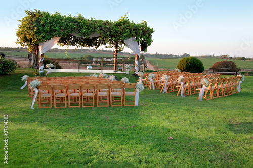Outdoor wedding ceremony canopy (chuppah or huppah)