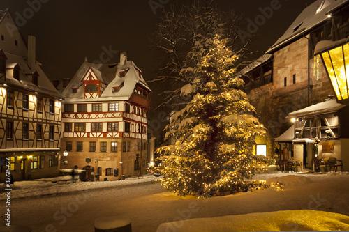canvas print picture Weihnachtsbaum am Tiergärtner Tor