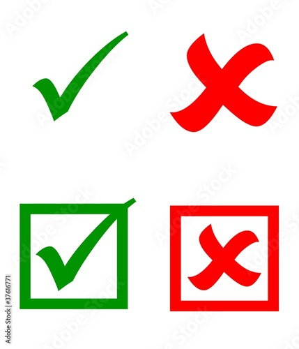 """Check mark stickers"" Stock photo and royalty-free images ... X And Check Icon"