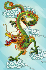 Chinese Dragon Painting (EPS 10 file version)