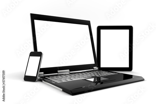 Phone, PC and tablet isolated