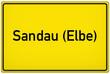 Leinwanddruck Bild - Sandau an der Elbe