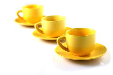 Tazzine in fila - Cups in a row