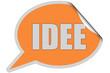 SP-Sticker orange IDEE