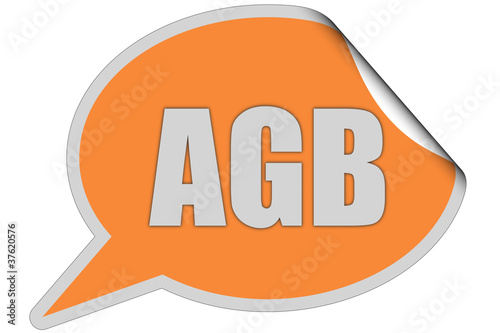 SP-Sticker orange AGB