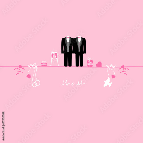 Wedding Symbols Mr Mr Pink