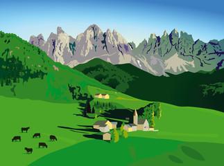 Bergwelt mit Alm