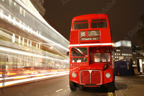 London Route Master Bus Poster