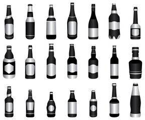 beer wine bottles black