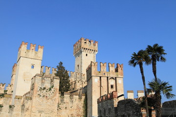 Castle Scaligero on the shore of Lake Garda, Italy