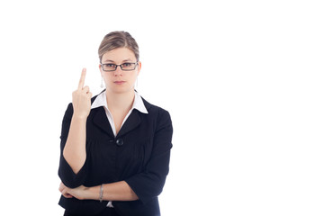 Angry rude woman gesture