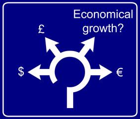 Economical roundabout sign