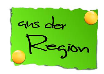 Zettel aus der Region