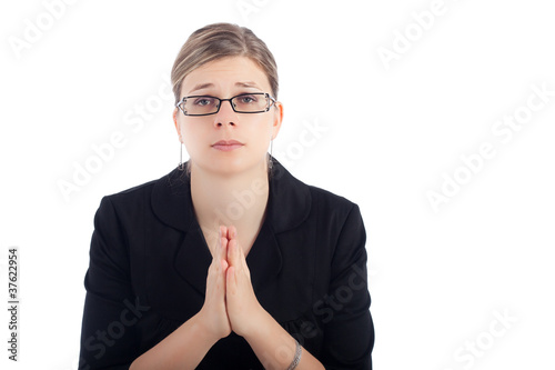 Desperate woman pray