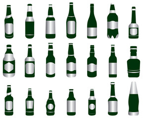 beer wine bottles green