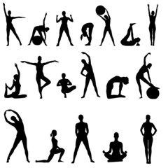 Female fitness silhouettes