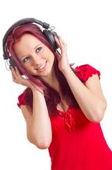 Teenager hört Musik