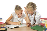 Two girls  with learning difficulties poster
