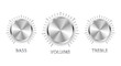 vector metal volume treble bass knobs