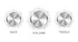 vector metal volume treble bass knobs