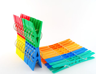 Sets color clothes-pegs