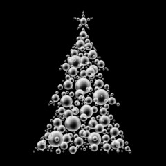 black & white christmas