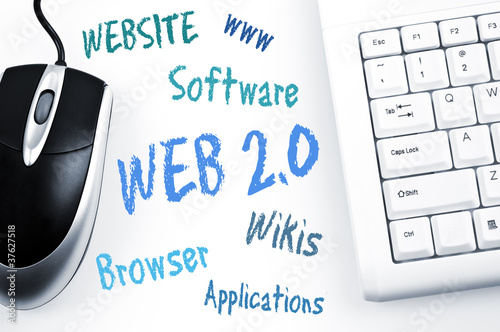 Web 2.0 word scheme and computer keyboard