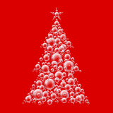 bubble christmas tree red