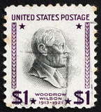 Postage stamp USA 1938 Woodrow Wilson