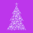 purple bubble xmas tree