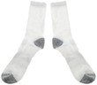 White Mens Athletic Cotton Socks