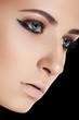 Beauty, cosmetics and fashion. Beautiful woman model face