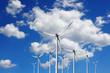 Turbine at blue sky