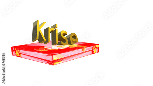 Krise-Podest-transparent-rot