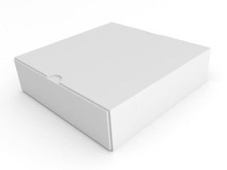 Blank empty white box on white background