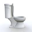 3D Toilette offen Seitenansicht