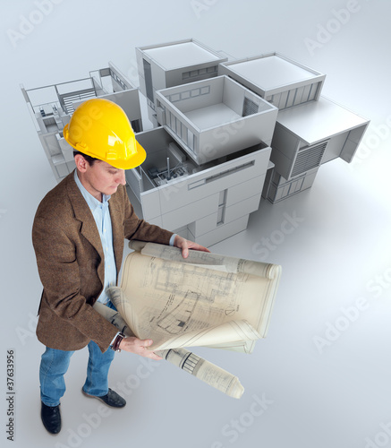 Architect and mockup