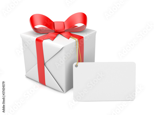 Gift box with label