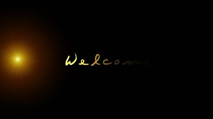 Text mit Licht - Welcome