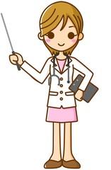 女医 指示棒