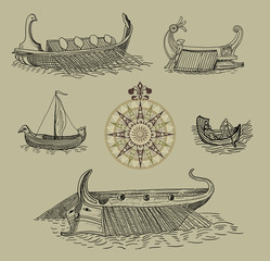 Old greek boats