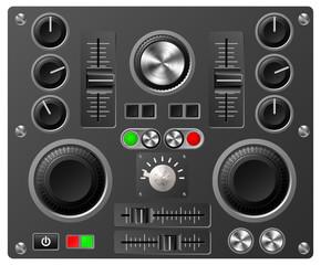 Sound board or studio controls