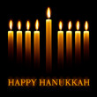 Vector Happy Hanukkah greeting card with candles.